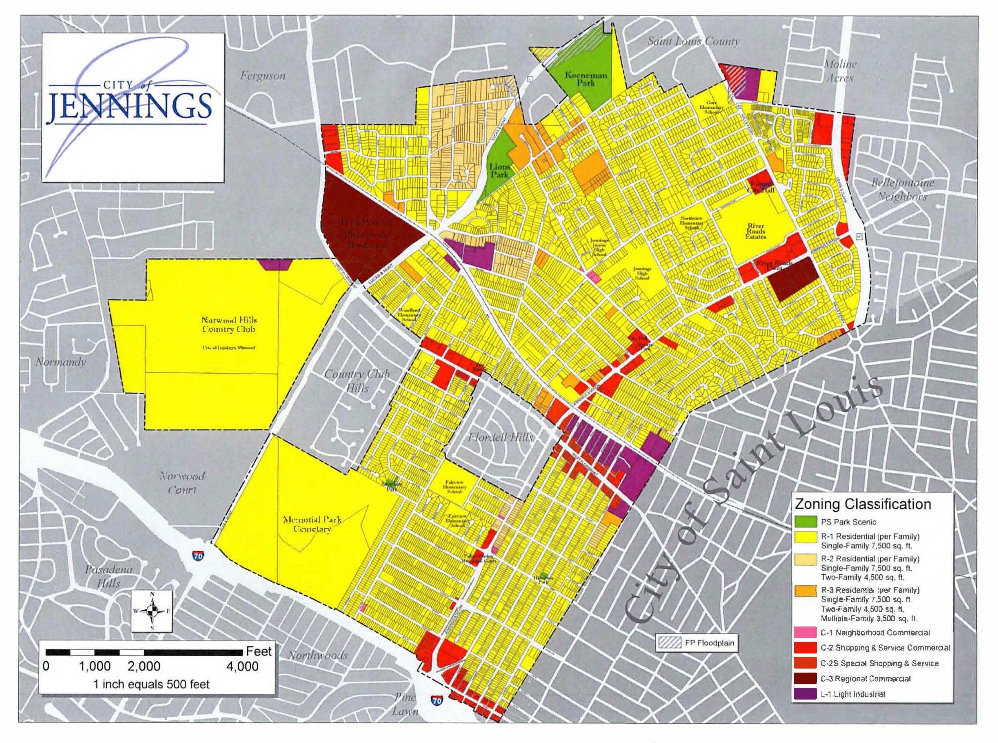City of Jennings - Zoning Map Zoning Map on