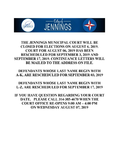 City of Jennings - Departments|Municipal Court Information